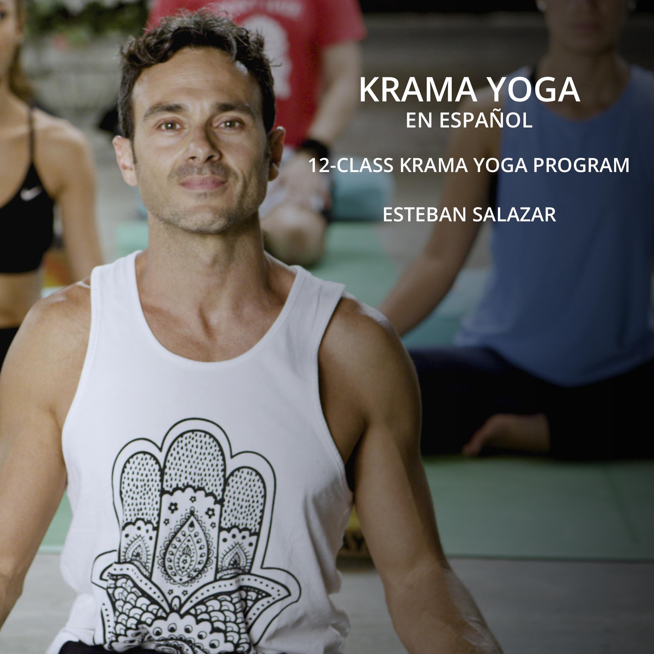 Esteban Salazar Krama Yoga program on UDAYA Yoga and Fitness